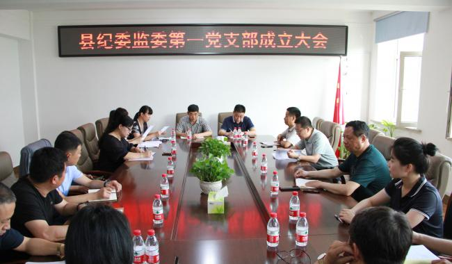 县纪委监委召开第一党支部成立暨选举大会